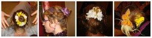 hair flower collage 1