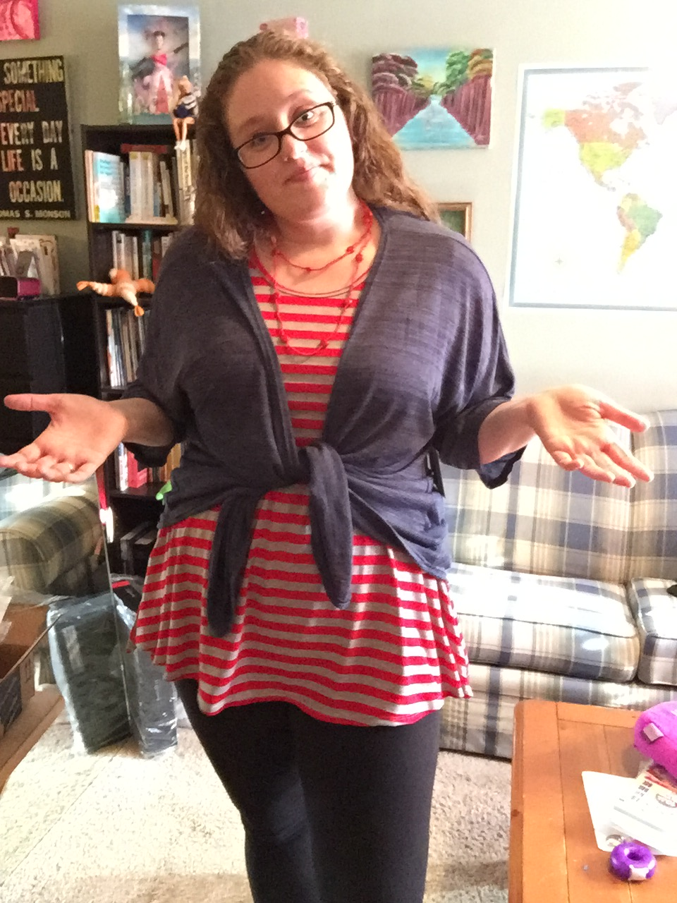 Alright, here is the gray Maxi skirt WITH the blue Lindsay!! So comfortable. In these, I am wearing a LLR Maxi skirt, LLR leggings, a LLR Lindsay, and a ...